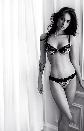 Megan Fox in Armani billboard ads, Megan fox modeling photos, Megan box bra and panties, celebrity plastic surgery, celebrity cosmetic surgery, beauty photos