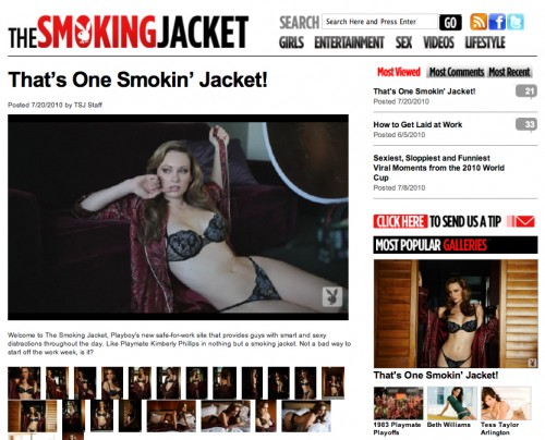 Thesmokingjacket.com, playboy magazine, new playboy website, hugh hefner's new website, celebrity gossip