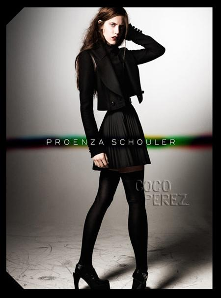 Proenza schouler fall collection, proenza schouler fashion model, proenza schoulder skinny model, supermodels too skinny