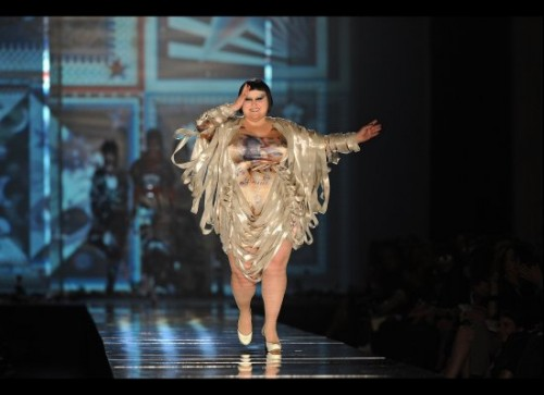 Beth Ditto, Jean Paul Gaultier, Paris Fashion Week coverage, Beth Ditto for Jean Paul Gaultier